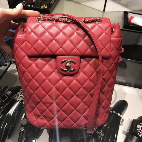 96a997220b06 CHANEL Handbags - CHANEL Quilted Small Urban Spirit Backpack, Red